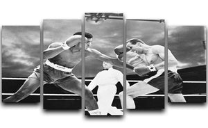 Muhammad Ali v Henry Cooper 5 Split Panel Canvas  - Canvas Art Rocks - 1