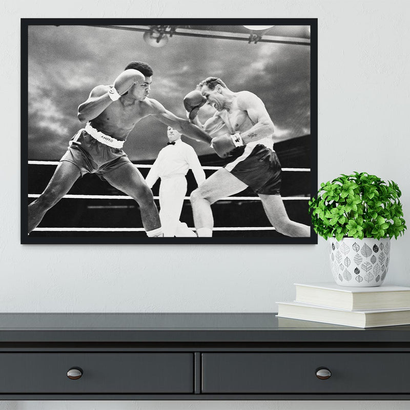 Muhammad Ali v Henry Cooper Framed Print - Canvas Art Rocks - 2