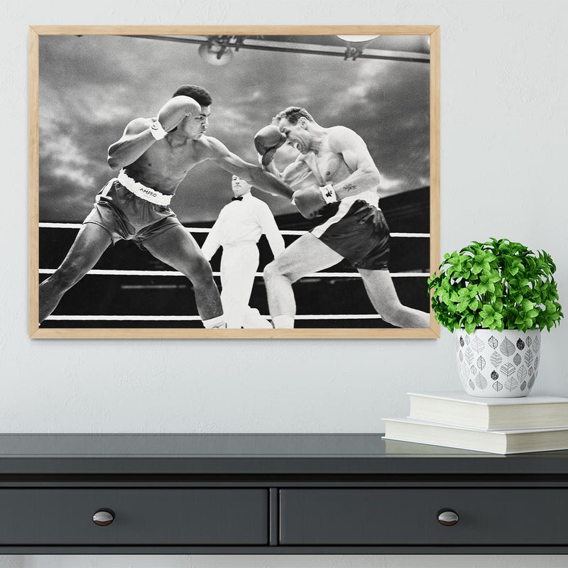 Muhammad Ali v Henry Cooper Framed Print - Canvas Art Rocks - 4