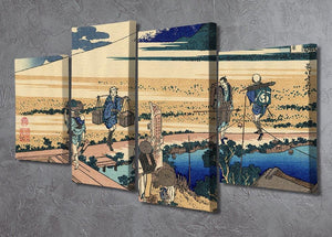 Nakahara in the Sagami province by Hokusai 4 Split Panel Canvas - Canvas Art Rocks - 2