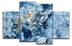 Navy Cracked and Speckled Marble 4 Split Panel Canvas - Canvas Art Rocks - 1