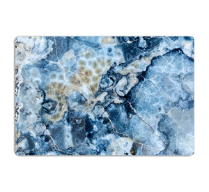 Navy Cracked and Speckled Marble HD Metal Print - Canvas Art Rocks - 1