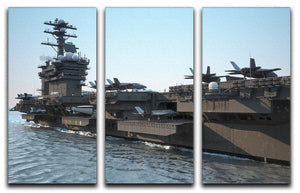 Navy aircraft carrier angled view 3 Split Panel Canvas Print - Canvas Art Rocks - 1