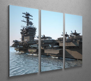Navy aircraft carrier angled view 3 Split Panel Canvas Print - Canvas Art Rocks - 2