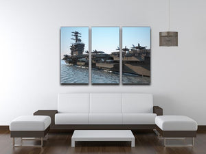 Navy aircraft carrier angled view 3 Split Panel Canvas Print - Canvas Art Rocks - 3