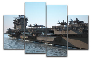 Navy aircraft carrier angled view 4 Split Panel Canvas  - Canvas Art Rocks - 1