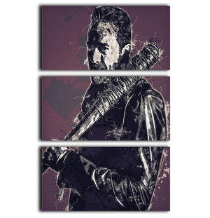 Negan Pop Art 3 Split Panel Canvas Print - Canvas Art Rocks - 1