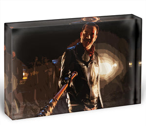 Negan The Walking Dead Acrylic Block - Canvas Art Rocks - 1