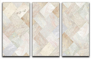Netural Patterned Marble 3 Split Panel Canvas Print - Canvas Art Rocks - 1
