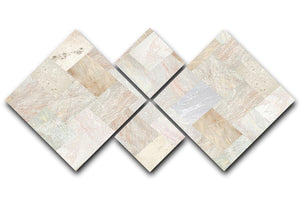 Netural Patterned Marble 4 Square Multi Panel Canvas - Canvas Art Rocks - 1