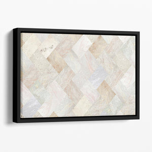 Netural Patterned Marble Floating Framed Canvas - Canvas Art Rocks - 1