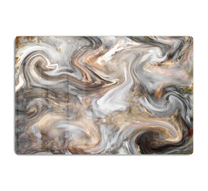 Neutral Stone Swirl Marble HD Metal Print - Canvas Art Rocks - 1