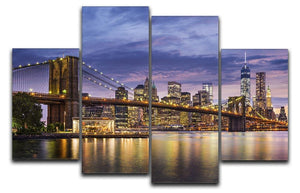 New York City at twilight 4 Split Panel Canvas  - Canvas Art Rocks - 1