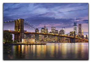 New York City at twilight Canvas Print or Poster  - Canvas Art Rocks - 1