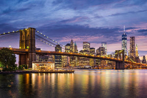 New York City at twilight Wall Mural Wallpaper - Canvas Art Rocks - 1
