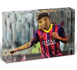 Neymar Acrylic Block - Canvas Art Rocks - 1