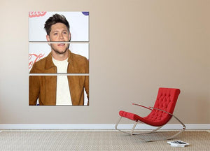 Niall Horan of One Direction 3 Split Panel Canvas Print - Canvas Art Rocks - 2