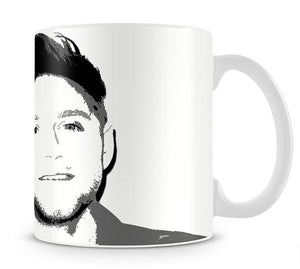Niall Horan of One Direction Black and White Pop Art Mug - Canvas Art Rocks - 1