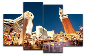 Night scenes from Las Vegas 4 Split Panel Canvas  - Canvas Art Rocks - 1