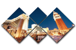 Night scenes from Las Vegas 4 Square Multi Panel Canvas  - Canvas Art Rocks - 1