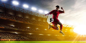 Night stadium background panorama Wall Mural Wallpaper - Canvas Art Rocks - 1