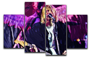 Nirvana Kurt Cobain 4 Split Panel Canvas  - Canvas Art Rocks - 1