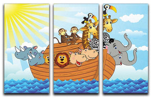 Noah Ark 3 Split Panel Canvas Print - Canvas Art Rocks - 1