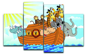 Noah Ark 4 Split Panel Canvas  - Canvas Art Rocks - 1