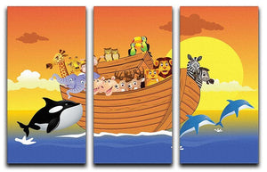Noah Ark Whale 3 Split Panel Canvas Print - Canvas Art Rocks - 1