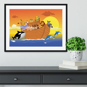 Noah Ark Whale Framed Print - Canvas Art Rocks - 1