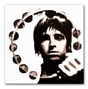 Noel Gallagher Tambourine Print - Canvas Art Rocks - 1