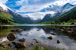 Norway natural landscape Wall Mural Wallpaper - Canvas Art Rocks - 1