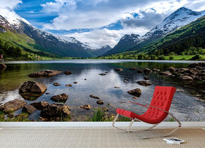 Norway natural landscape Wall Mural Wallpaper - Canvas Art Rocks - 2