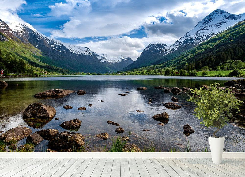 Norway natural landscape Wall Mural Wallpaper - Canvas Art Rocks - 4