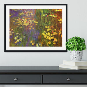 Nympheas water plantes by Monet Framed Print - Canvas Art Rocks - 1