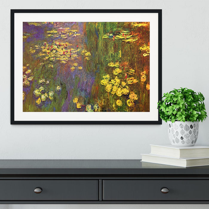 Nympheas water plantes by Monet Framed Print
