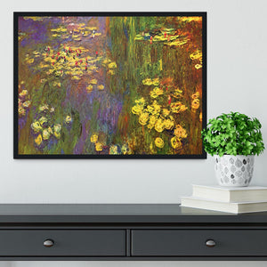 Nympheas water plantes by Monet Framed Print - Canvas Art Rocks - 2
