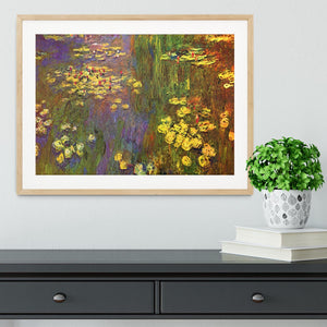 Nympheas water plantes by Monet Framed Print - Canvas Art Rocks - 3