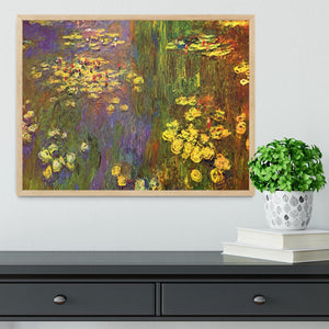 Nympheas water plantes by Monet Framed Print - Canvas Art Rocks - 4