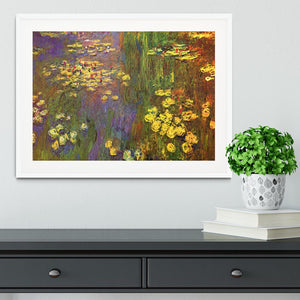 Nympheas water plantes by Monet Framed Print - Canvas Art Rocks - 5