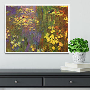 Nympheas water plantes by Monet Framed Print - Canvas Art Rocks -6