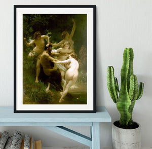Nymphs and Satyr By Bouguereau Framed Print - Canvas Art Rocks - 1
