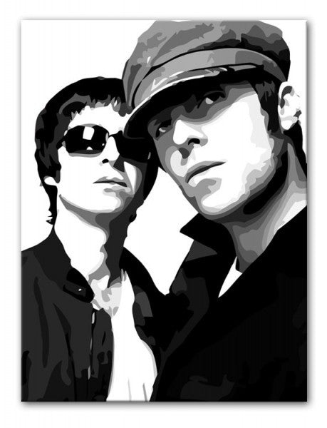 Liam & Noel Gallagher Oasis Print - Canvas Art Rocks - 4