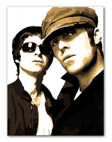 Liam & Noel Gallagher Oasis Print - Canvas Art Rocks - 1