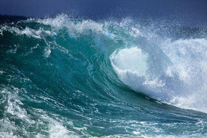 Ocean wave Wall Mural Wallpaper - Canvas Art Rocks - 1