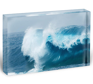 Ocean waves breaking natural Acrylic Block - Canvas Art Rocks - 1