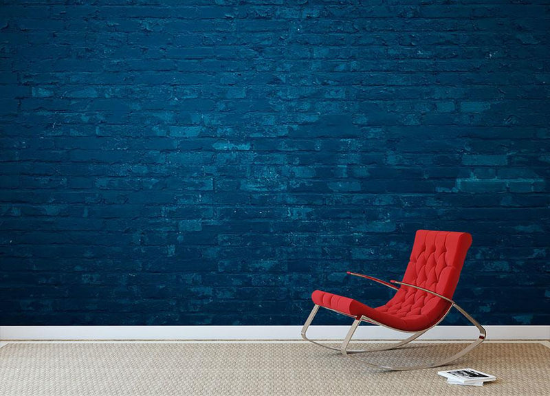Old dark blue Wall Mural Wallpaper - Canvas Art Rocks - 2