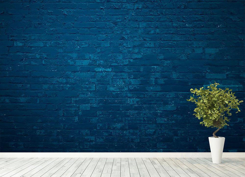 Old dark blue Wall Mural Wallpaper - Canvas Art Rocks - 4