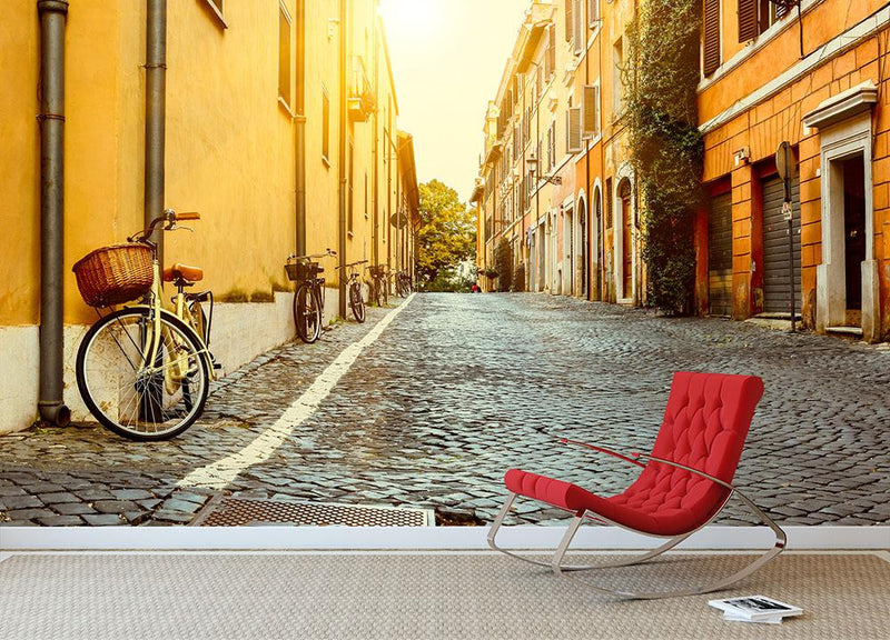 Old street in Italy Wall Mural Wallpaper - Canvas Art Rocks - 1