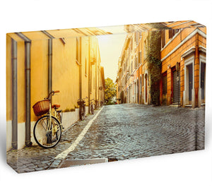 Old street in Rome Acrylic Block - Canvas Art Rocks - 1